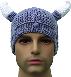 knit viking hat with braids