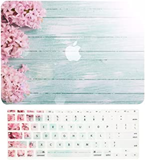 TOP CASE - 2 in 1 Signature Bundle Floral Pattern Rubberized Hard Case + Keyboard Cover Compatible MacBook Air 11