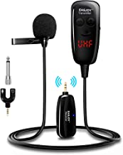 Wireless Lavalier Microphone, Easjoy Upgraded Digital Screen Wireless Lapel Collar Clip-on Microphone for Teaching, Confer...