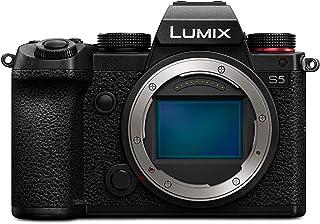 Panasonic LUMIX DC S5E K Systemkamera (24 MP, 4K, Dual I.S., Touchscreen, OLED Sucher, Staub /Spritzwasserschutz) schwarz