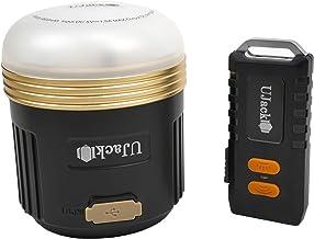 UJack(ユージャック) 充電式 LEDランタン ケース リモコン付 3WAY 560ルーメン 248時間 昼白色 暖色 8段モード切り替え IPX5防水 1m耐衝撃