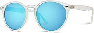 white rimmed round sunglasses