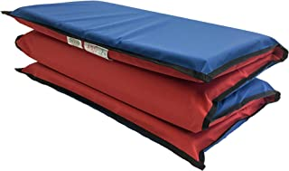 """KinderMat, EnduroMat 2"""" Thick Rest Mat, 4-Section Rest Mat, 48"""" x 24"""" x 2"""", Red/Blue with Black Binding, Great for School,..."""