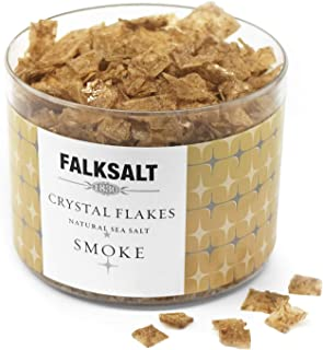FALKSALT Smoked Sea Salt Flakes - Comparable to Maldon – Finishing Mediterranean Sea Salt Flakes for Meat, Poultry, Seafood, Pasta, Veggies, Sweets, & Cocktails [2.47oz - 5 Flavors Available]