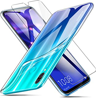 AROYI Funda + Protector de Pantalla para Huawei P Smart 2019 / Honor 10 Lite, Transparente TPU Silicona Carcasa, Anti-Choq...