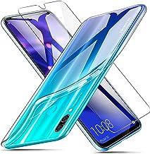 AROYI Funda + Protector de Pantalla para Huawei P Smart 2019 / Honor 10 Lite, Transparente TPU Silicona Carcasa, Anti-Choques/Arañazos Flexible Case Cover para Huawei P Smart 2019 / Honor 10 Lite