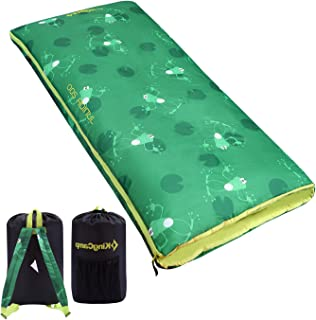 KingCamp Lightweight Children Sleeping Bag for Girls, Boys, Youth & Teens, Soft and Comfortable Enough for Camping, Backpacking, Indoor and Outdoor-Fits Youth up to 4'6