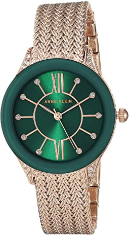 Green/Rose Gold-Tone