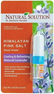 Best Natural Solution Himalayan Pink Salt Aromatherapy Nasal Inhaler,Cooling & Refreshing, Relaxing Lavender With Natural Essential Oils,Clear Airways When Breathing - 0.68 oz Review