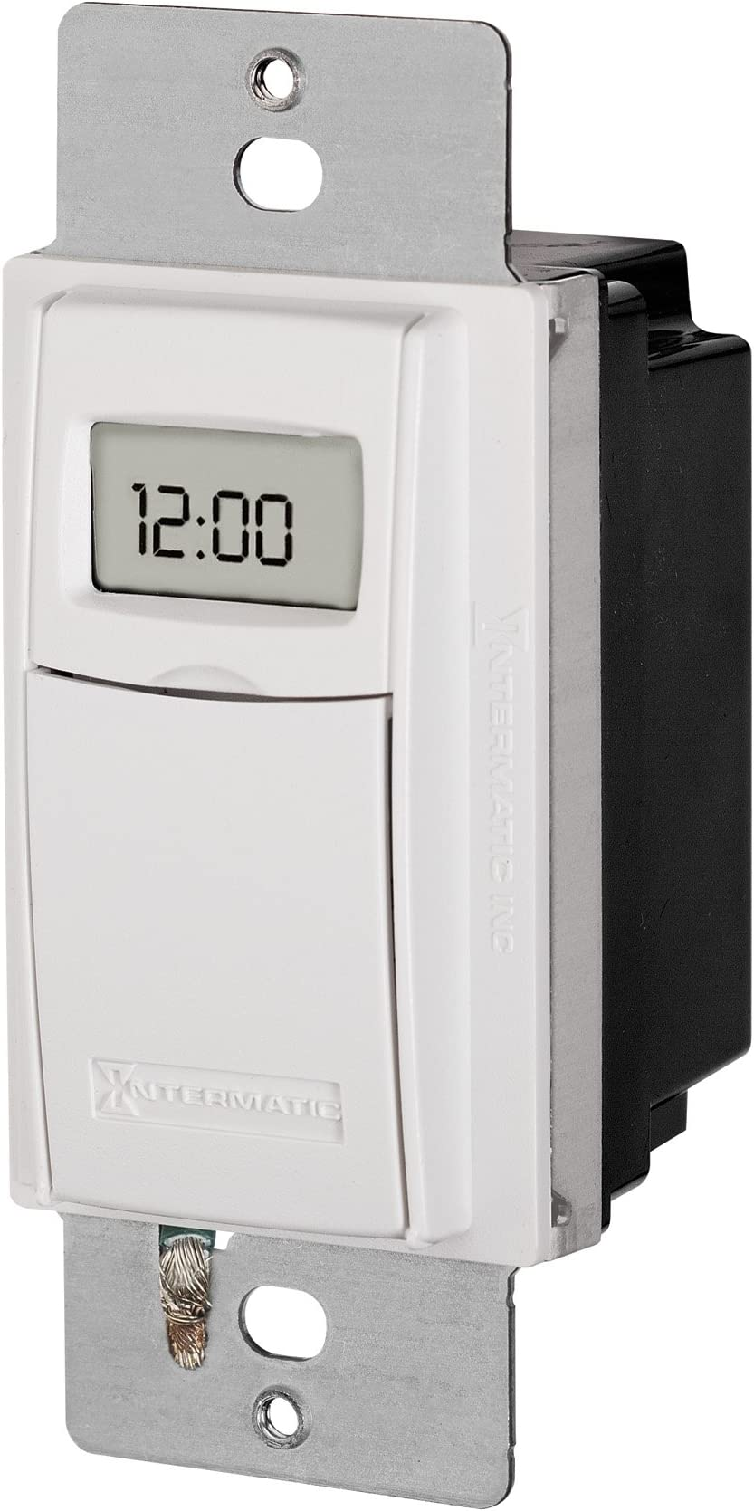 Intermatic ST01 7 Day Programmable In Wall Digital Timer Switch for Lights and Appliances, Astronomic, Self Adjusting, Heavy Duty,White