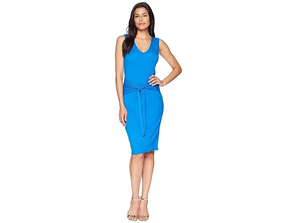 LAUREN Ralph Lauren Tie-Front Sleeveless Dress (Vivid Cyan) Women