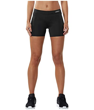 2XU Fitness Compression 4 Shorts (Black/Silver) Women