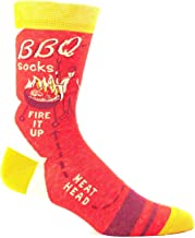 Blue Q Men's Socks: BBQ Fire It Up, One Size