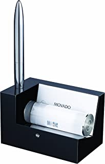 Movado Blk Crystal Business Card Holder with pen