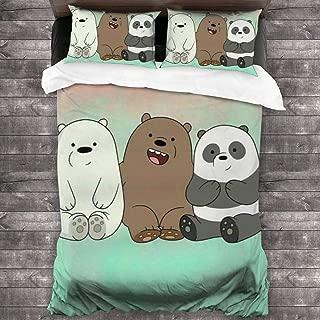 NA We-Bare-Bears Ice Bear Duvet Cover Bedding Set, 3 Piece Set Bedding Twin Full Queen King Bed(Duvet Cover + 2 Pillowcases)