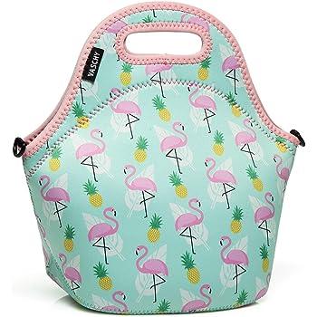 Yunshm Flamingo Seamless Pattern On Mint Green Yellow Personalized Trolley Handbag Waterproof Unisex Large Capacity For Business Travel Storage