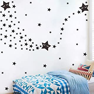159pcs Multi Size Stars Wall Decal, Removable Easy Paste Vinyl Sticker for Kids Boy Girls Room Decoration, Nursery Decals ...