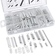 QLOUNI Spring Assortment Set, 200 Pieces Zinc Plated Compression and Extension Springs for Shops and Home Repairs