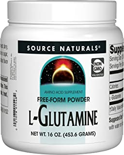 Source Naturals L-Glutamine Powder - Free Form Amino Acid That Supports Metabolic Energy - 16  oz
