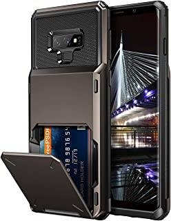 Vofolen Case for Galaxy Note 9 Case Wallet 4-Slot Pocket Credit Card ID Holder Scratch Resistant Dual Layer Protective Bumper Rugged Rubber Armor Hard Shell Cover for Samsung Galaxy Note 9 Gun Metal