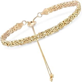 Ross-Simons 14kt Yellow Gold Byzantine Bolo Bracelet