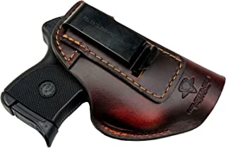 Relentless Tactical The Defender Leather IWB Holster - Made in USA - Fits Ruger LCP, LCP2, Sig P238, P290, S&W Bodyguard ....
