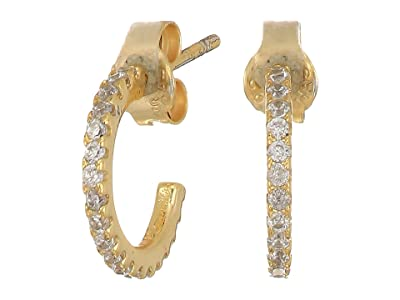 SHASHI Hoop Small Pave Earrings (Gold) Earring