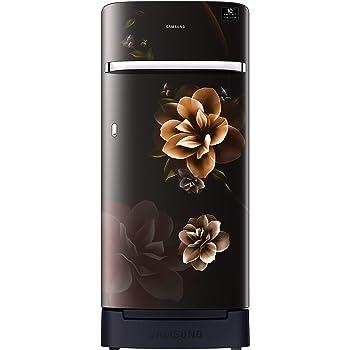 Samsung 198 L 4 Star Inverter Direct-Cool Single Door Refrigerator (RR21T2H2XCB/HL, Camellia Black, Base Stand with Drawer)