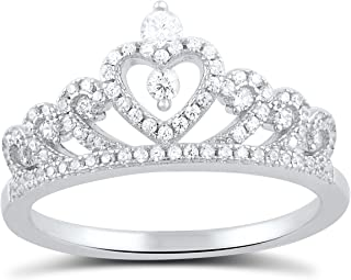 Best heart crown ring Reviews