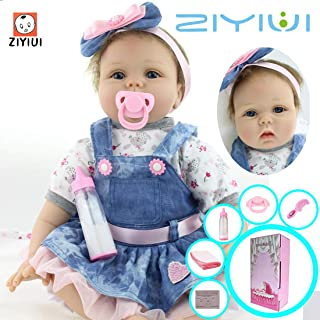 """ZIYIUI 22 """"55cm Reborn Baby Doll Reborn Doll Vinilo de"""