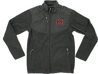 Auburn Tigers NCAA Mens Tactical Polar Fleece Full Zip Jacket, Dark Grey