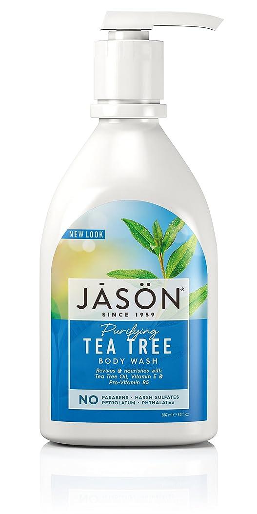 手つかずのまとめる敷居Jason Natural Products Tea Tree Satin Shower Body Wash 887 ml (並行輸入品)