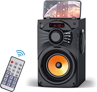 $26 » Portable Bluetooth Speakers Wireless Clear Audio Rich Bass Outdoor Party Speaker Stereo Sound Retro Desktop Speakers with ...