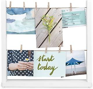 Umbra Hangit Desk Photo Display, White, Desktop