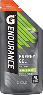Gatorade Endurance Energy Gel, Apple Pear, 21 Pack, 1.3 oz Pouches
