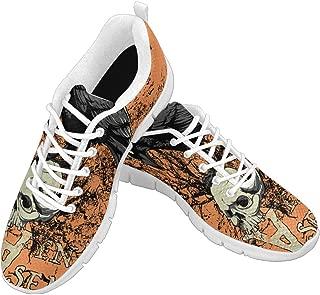 Zenzzle Women's Running Sneakers Heaven's Basement Pattern Casual Athletic Walking Shoes Size US6-12 Yellow