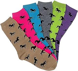Awst Horses All Over Crew Socks 6-Pack