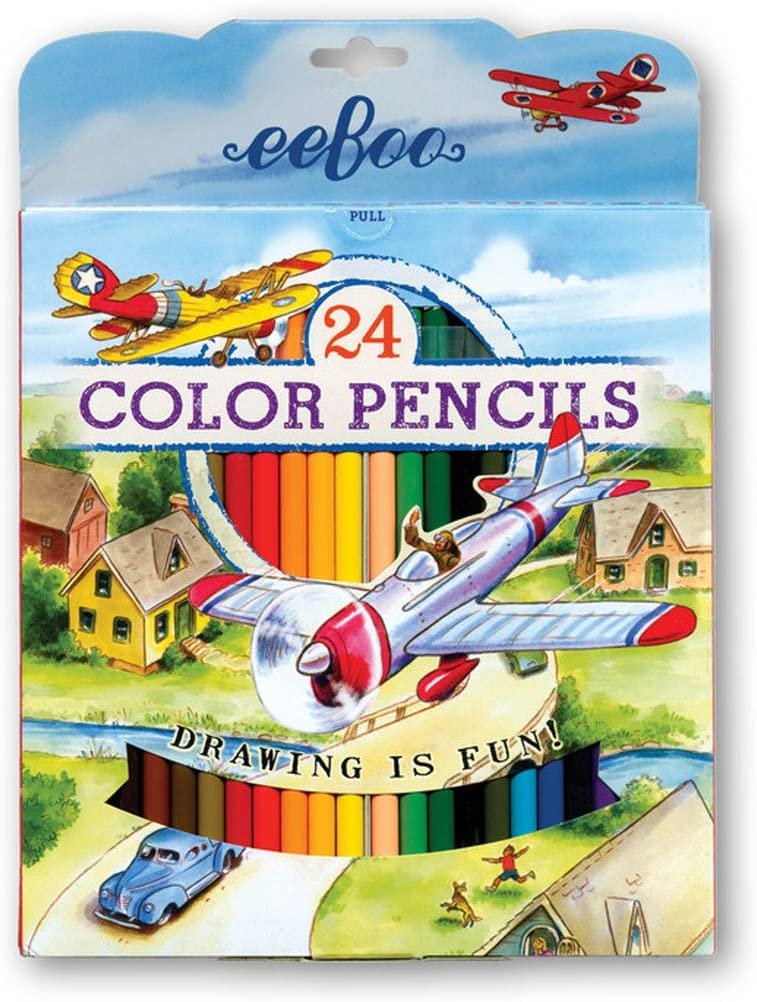 eeBoo Colored Pencils Red Max 81% Max 77% OFF OFF of 24 Set Airplane