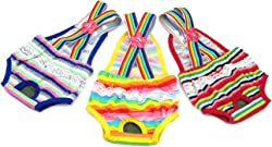 Alfie Pet - Alysia Diaper Dog Sanitary Pantie with Suspender for Girl Dogs