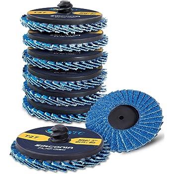 10 Pieces 120 Grit Zirconia Neiko Roloc Type 2-Inch Flap Disc
