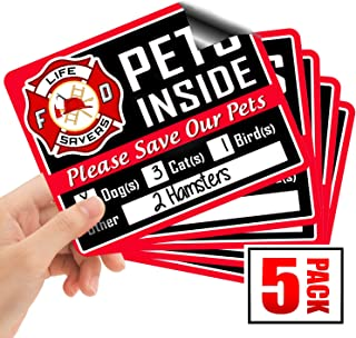 Signs Authority 5, 10 or 20-Pack Stylish Pet Rescue Stickers Decals for House Windows Doors | 5