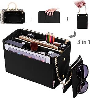Purse Organizer, Purse Organizer Insert With 2 Metal Zipper, Bag Organizer With RFID Blocking Pocket Purse Organizer insert