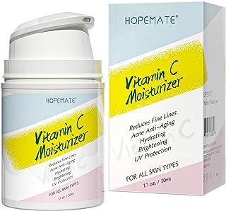 HOPEMATE H Vitamin C Moisturizer-Anti aging, Reduce Wrinkles & Dark Spot, Daily for Dry, Sensitive, Oily Skin Restore - Bo...
