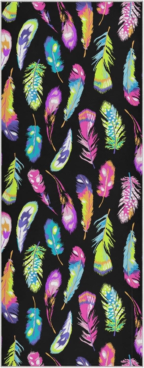 Mazeann Neon Feathers Excellent Yoga Mat Fiber Super 2021 new Sweat Towel Absorben