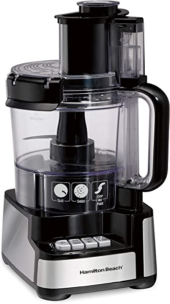 Hamilton Beach 70725A 12 Cup Stack Snap Food Processor And Vegetable Chopper Black