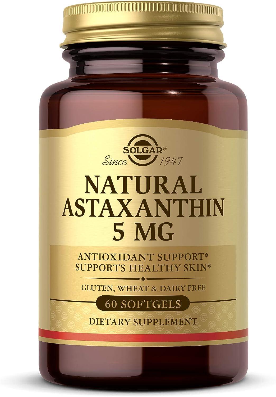 Max 44% OFF Indianapolis Mall Solgar Natural Astaxanthin 5 mg 60 - Softgels Count