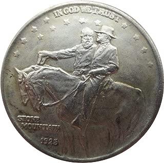 レア アンティーク USA USA 1925年 ストーンマウンテン ハーフダラー グレートレスティック シルバーカラー コイン