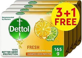 Dettol Fresh Anti-bacterial Bar Soap 165g 3+1 Free - Citrus & Orange Blossom