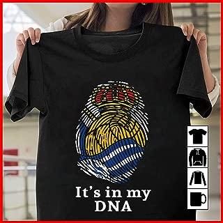 Real Sociedad It's In My DNA T Shirt Long Sleeve Sweatshirt Hoodie for Men and Women