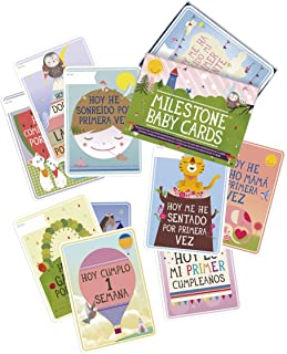 Milestone - Baby Photo Cards Original - Spanish - Set of 30 Photo Cards to Capture Your Baby's First Year in Weeks, Months and Memorable Moments
